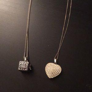 Set of Two Sterling Silver Necklaces